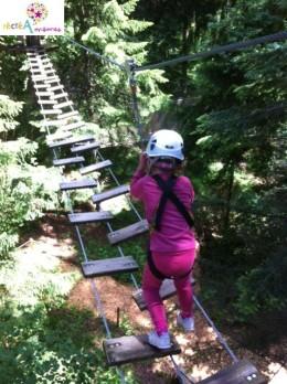 Pont de singe Base Nature Aventure Talloires Parcours Enfant