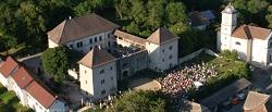 Vu aérienne du Château de Clermont