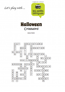 Haalloween crosswords - Solution