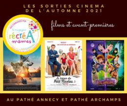 Films et avant-premières aux cinémas Pathé Annecy et Pathé Archamps