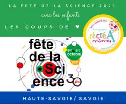 Fête de la Science 2021 en Haute-Savoie et Savoie