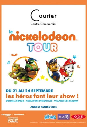 Nickelodeon Tour 2016 au centre courier Annecy